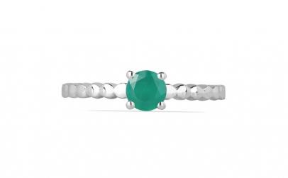 Inel argint Rosalind  925  cu onix verde