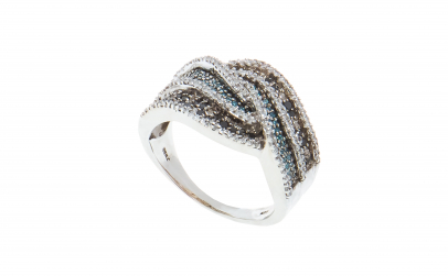 Inel din argint 925, design modern