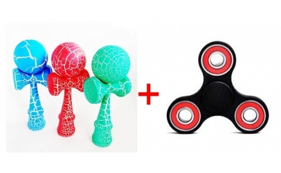 Kendama cracker + Fidget Spinner