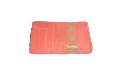 Prosop bumbac sauna portocaliu buline