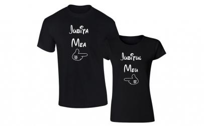 Set de tricouri negre Iubitul