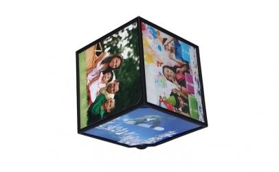 Rama foto cub rotativ cu 6 fotografii