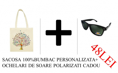 sacosa personalziata+ochelari nerd
