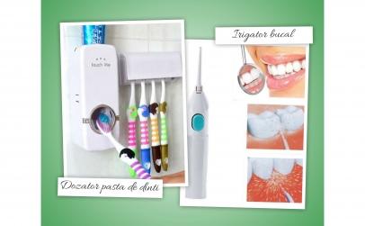 Dozator pentru pasta de dinti + irigator