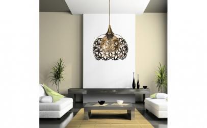 Lustra moderna living, corp metalic,