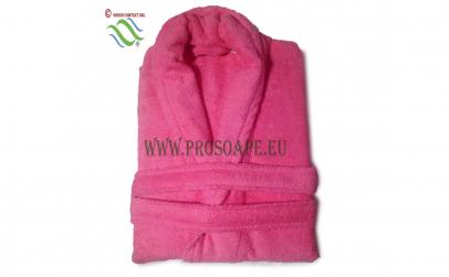Halat de baie, roz, L