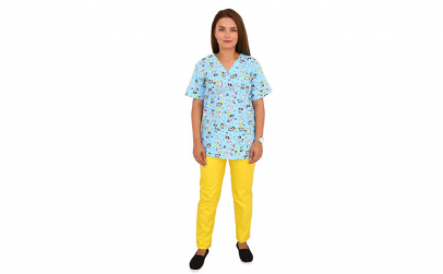 Costum medical Puppy, cu bluza cu
