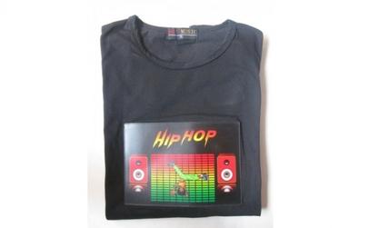 Tricou luminos cu egalizator HIP-HOP