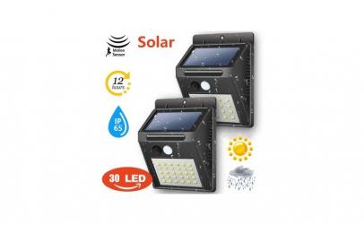 Lampa 30 LED cu incarcare solara