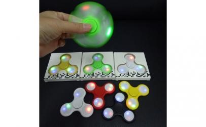 Jucarie Fidget Hand Spinner cu lumini