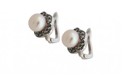 Cercei Argint 925 cu Perle de Cultura