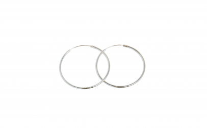 Cercei circulari din argint, 925, 3.0 cm