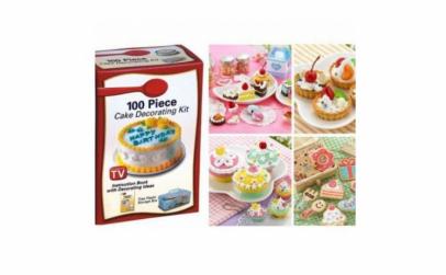 100 Piece cake decorating