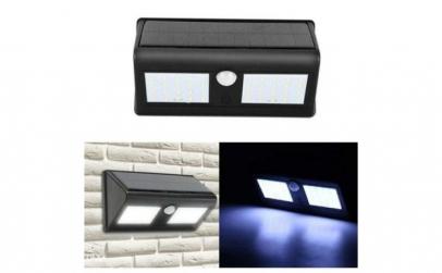 Lampa solara dubla, cu 96 LED-uri