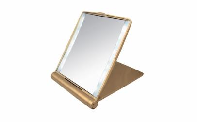 Oglinda cosmetica cu led-uri si cristale