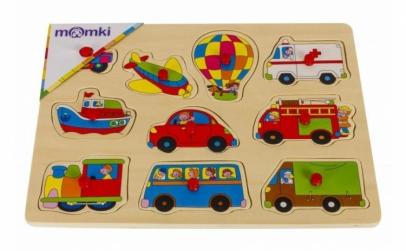 Puzzle cu vehicule - 10 piese