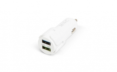 Adaptor bricheta 2 x USB – Alb