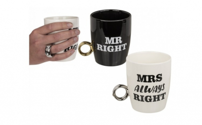 Set cani cu inel Mr Right and Mrs Always