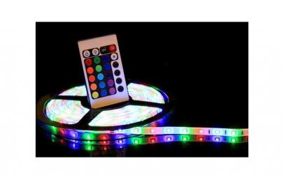 Set 2 benzi RGB LED - cu telecomanda