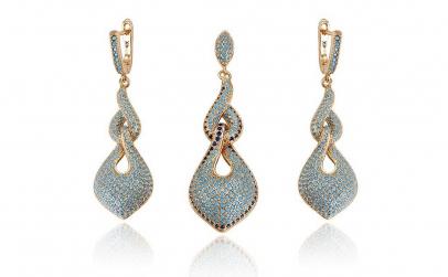 Set bijuterii Glamour Turcoaz