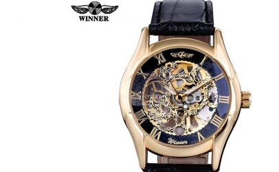 Ceas Winner Win002 GoldPlated Gentleman