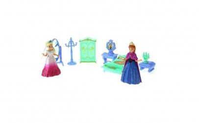 Mini papusica Anna Frozen cu mobilier