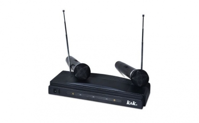 Set 2 microfoane wireless cu receptor