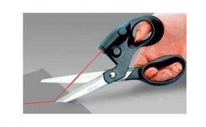 Foarfeca cu indicator laser