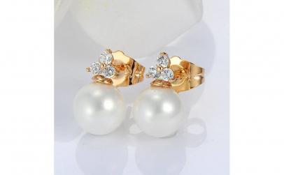 Cercei Flower Pearl