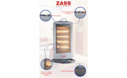 Radiator cu halogen Zass HS 04, 1600 W,