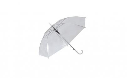 Umbrela de ploaie, plastic, alb,
