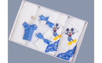 Trusou botez albastru cu buline Mickey