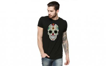 Tricou barbati negru - Sugar Skull