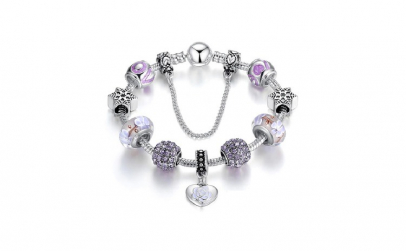 Bratara Charm Strong Purple Love