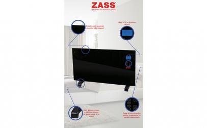 Convector cu sticla Zass ZKG 01 Black,