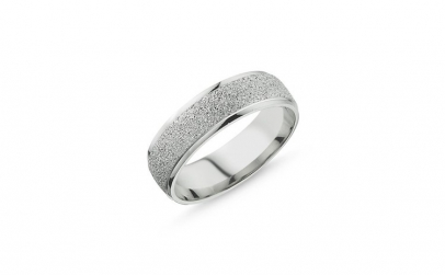 Inel argint 925 cu aspect nisipos model
