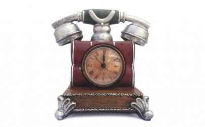 Pusculita - telefon retro cu ceas 16x16