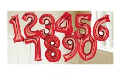 Balon in forma de cifra - aniversari