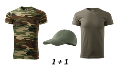 Tricou army - set 2 buc. + sapca