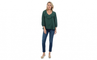 Bluza Dama Verde cu Volan