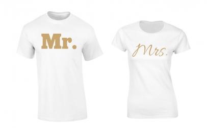 "Set de tricouri ""Mr. Mrs"""