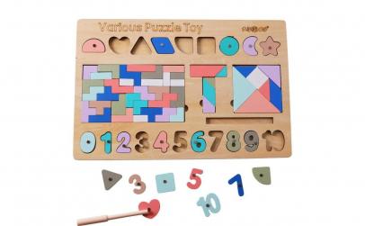 Puzzle Tetris Montessori 3 in1