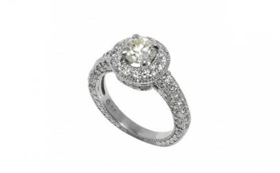 Inel din aur 14K cu diamante naturale