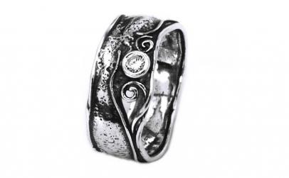 Inel argint 925 model Israel cu