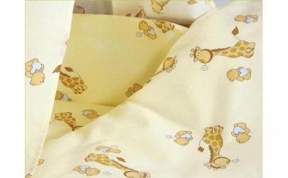 Lenjerie MyKids Mini Giraffe Crem 4+1