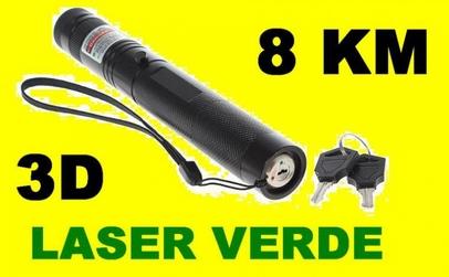 Laser verde 3D puternic cu acumulator