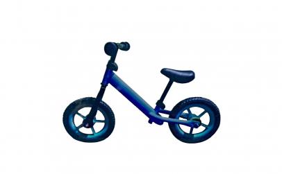 Bicicleta fara pedale albastra