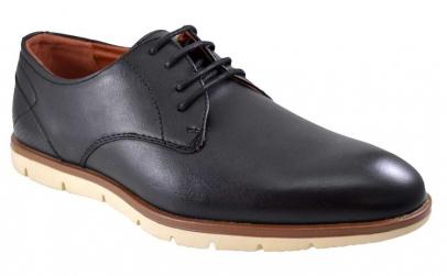 Pantofi negri barbati cu calcai