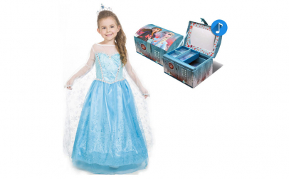 Rochie fetite Elsa + Cutie muzicala