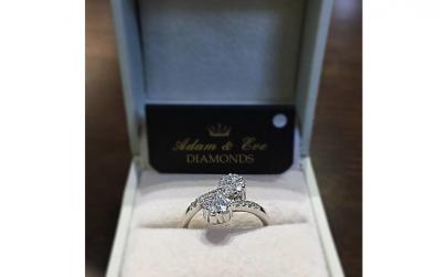 Inel aur 18k cu diamante briliant